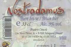 Caracole Nostradamus etiket_label backside
