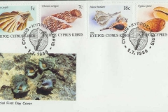 Cyprus 1986 Murex Charonia Chlamys Cypraea