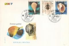 Kroatia 1997 Pinna nobilis Tonna galea