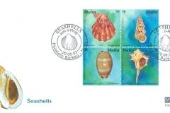 Malta 2003 Pecten, Epitonium, Murex, Cypraea