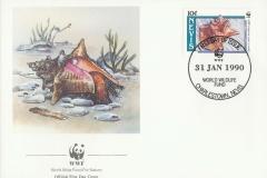 Nevis 1990 Strombus gigas 10c