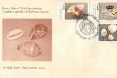 Turkish Republic of Northern Cyprus 1994 Cypraea talpa etc