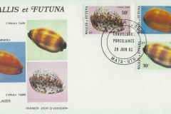 Wallis et Futuna 1982 Cypraea tigirs carneola talpa