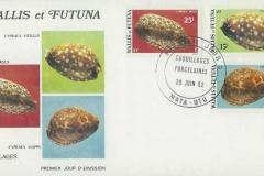 Wallis et Futuna 1982 Cypraea vitellus argus mappa