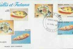 Wallis et Futuna 1986 Oliva Distorsio Mitra