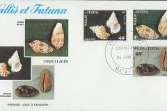 Wallis et Futuna 1987 Bursa Conus testudinaria