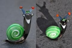 Glass, smile snail