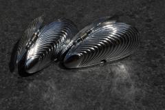 Metal, Moule, Silver, Mosselkleppen