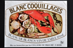 Wine, Blanc Coquillages, France
