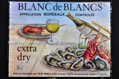 Wine, Bordeaux, Blanc de Blancs, France