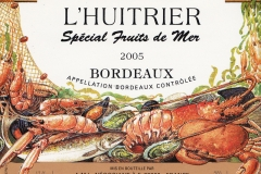 Wine, Bordeaux, Special Fruits de Mer, France 2005