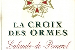 Wine, Grand Vin de Bordeau, La Croix des Ormes