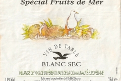 Wine Spécial Fruit de Mer Etiket-Label