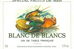 Wine, Spécial Fruit de Mer,  France, Blanc de Blancs