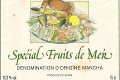 Wine Spécial Fruit de Mer Spain Etiket-Label