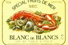 Wine, Special Fruit de Mer, Blanc de Blancs, Italie