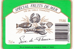Wine Special fruits de mer, France