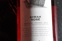 Wine, Syrah rose 2012