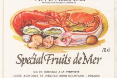Wine Vin de Alsace Special fruits de Mer, France
