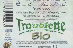 Caracole Troublette Bio etiket_label backside