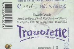 Caracole Troublette etiket_label backside