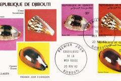Djibouti 1982 Cypraea exusta, erythraeensis etc.
