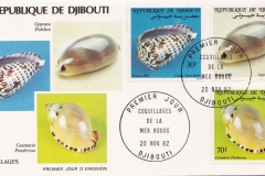 Djibouti 1982 Cypraea pulchra etc.