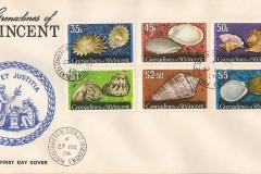Grenadines of St.Vincent 1974 Strombus gallus etc.