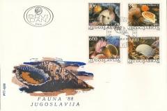 Jugoslavija 1988 Pecten Tonna Gibbula Argonauta