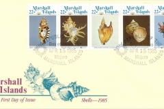 Marshall Islands 1985, Cymatium, Murex, Strombus, Turbo, Murex