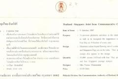 Singapore Thailand Joint Issue 1997 Marginella Back