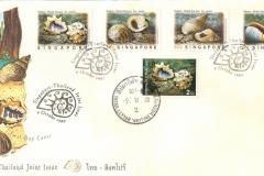 Singapore Thailand Joint Issue 1997 Marginella Nerita