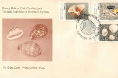 Turkish Republic of Northern Cyprus 1994 Cypraea talpa etc