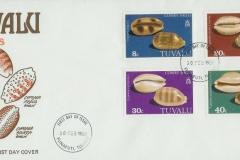 Tuvalu 1980 Cypraea aurantium argus scurra carneola