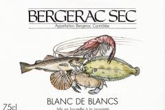 Wine, Bergerac Sec, Blanc de Blancs, France