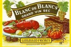 Wine, Blanc de Blancs, Guilbaud Freres, Mouzillon