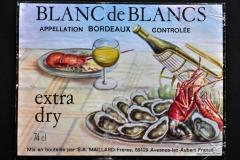 Wine, Bordeaux, Blanc de Blancs, France