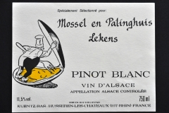Wine, Pinot Blanc, Mossel en Palinghuis Lekens