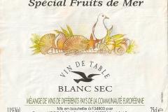 Wine Spécial Fruit de Mer Etiket-Label