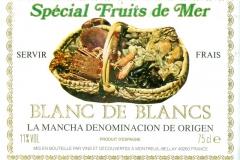 Wine, Special Fruit de Mer, Blanc de Blancs, La Mancha Denominacion de Origen, France