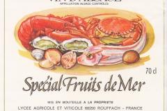 Wine Vin de Alsace Special fruits de Mer, France